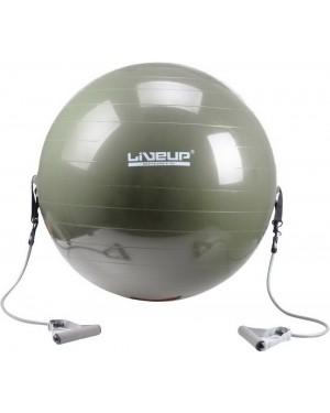 Фитбол LiveUp с эспандером GYM BALL WITH EXPANDER 65см LS3227