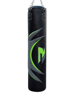 Боксерский мешок RDX Leather Green 1.5 м, 45-55 кг