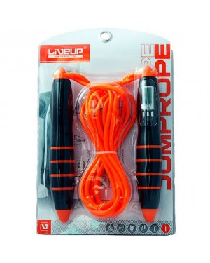 Скакалка LiveUp с электронным счетчиком PVC CABLE JUMPROPE LS3128