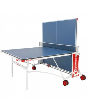 Стол теннисный Sponeta S3-87i для помещений опоры white/black